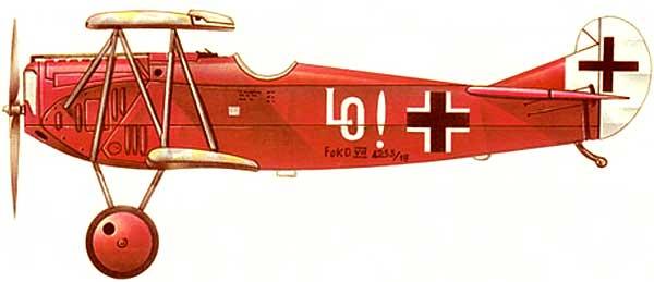 Fokker DVII paper model