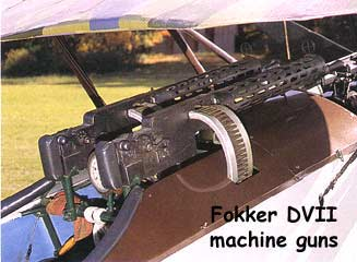 Fokker DVII machine guns