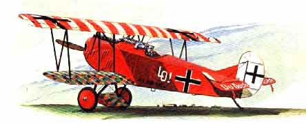 illustration for the Fokker DVII WWI Scout paper model airplane