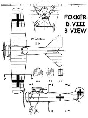 3 View of the Fokker D.VIII