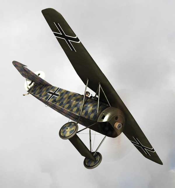illustration for the Fokker DVIII Flying Razor Blade paper model