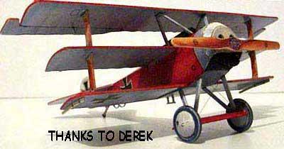 Fokker Dr-1 Triplane Corsair paper model