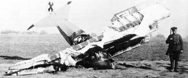 Fokker Dr1 Crash