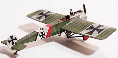 Fokker-EIII-downloadable card model-A from Fiddlersgreen