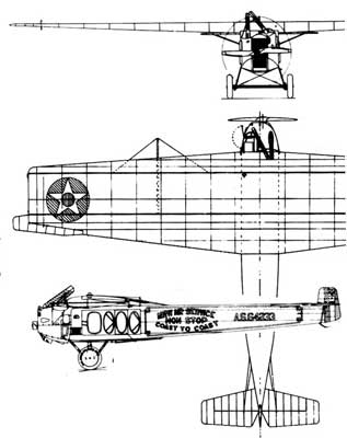 3 View of the Fokker T2