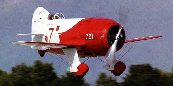Gee Bee Racer in flight