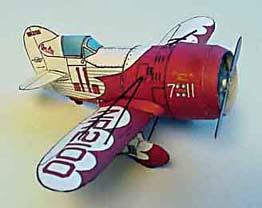 Gee Bee Racer paper model