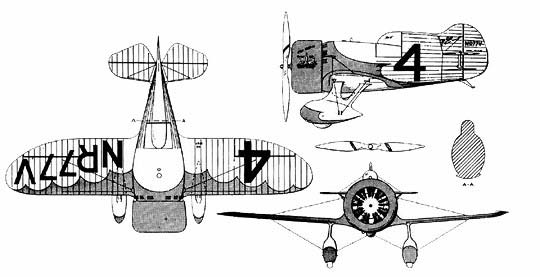 Gee Bee Z-3view
