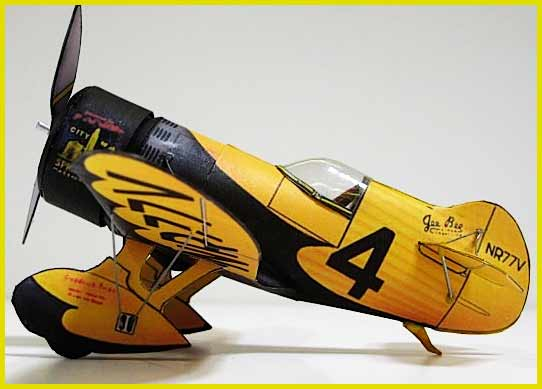 Gee Bee Z paper model airplane