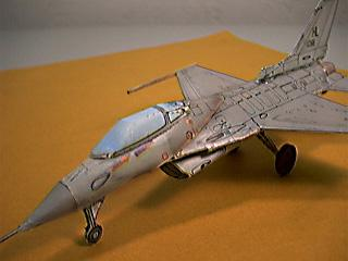 Close up view of the F-16 Wild Weasel modeled by Fiddlers Green.