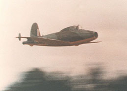 Gloster E28 screaming by