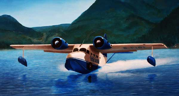 Illustration for the Grumman Goose paper model