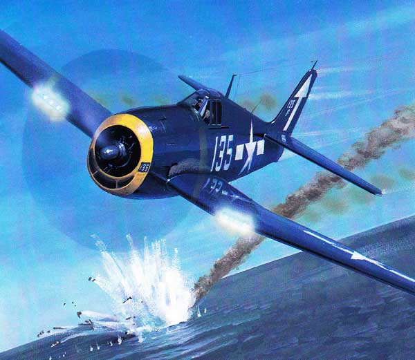illustration for Grumman F6F Hellcat paper model