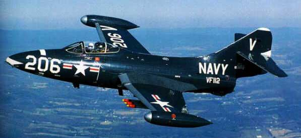 Grumman F9F Panther In Flight