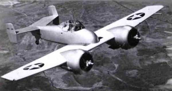 XF5 Grumman Skyrocket In flight
