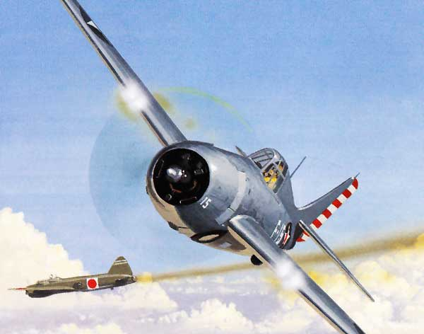 illustration for F4F Wildcat airplane paper model