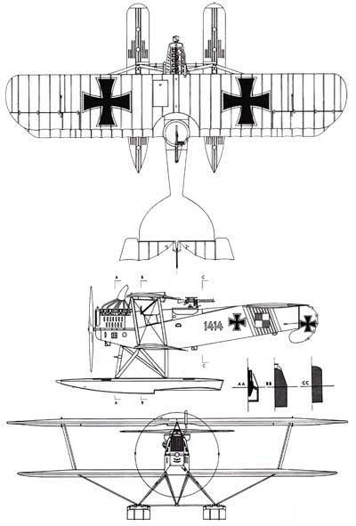 3 View of a Hansa Brandenburg W.12