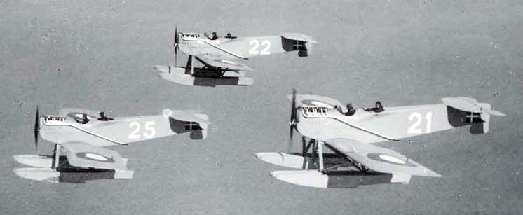 W.29's flying in formation