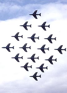 sixteen hawker hunters