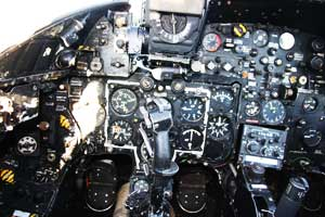 Cockpit of the Hawker Hunter