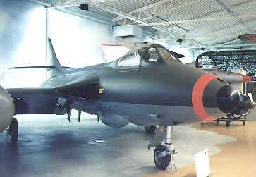 Hawker Hunter in museum