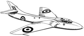 Hawker Hunter sketch