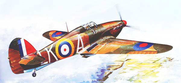 Hawker Hurricane flying