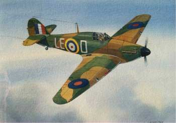 artwork for Hawker Hurricane paper model
