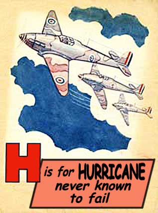 Hawker Hurricane WWII-Poster.