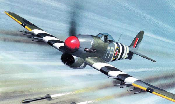 Illustration for the Hawker Typhoon paper model