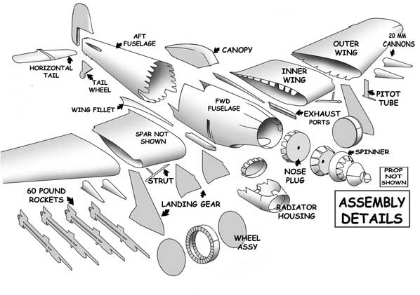 Hawker Typhoon  assembly view