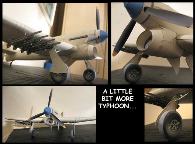 This Typhoon  BETA cardmodel
