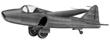 He-178 first jet plane drawing