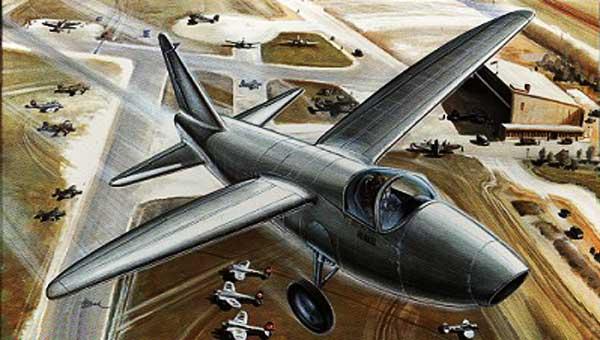Heinkel He-178 paper model