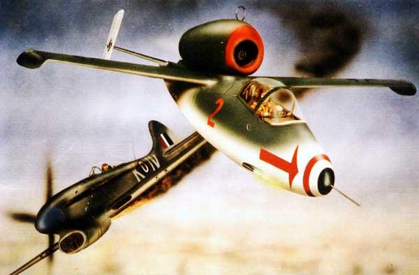 illustration for the He-162 Salamander paper model