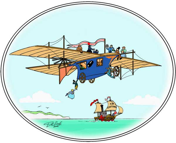 illustration for Henson's Ariel Early Flying Machine paper model