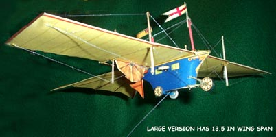 Henson Aerial Steam Carriage early flying machine 1842 downloadable card model
