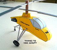 illustration for the XH-44 Hiller-copter paper model