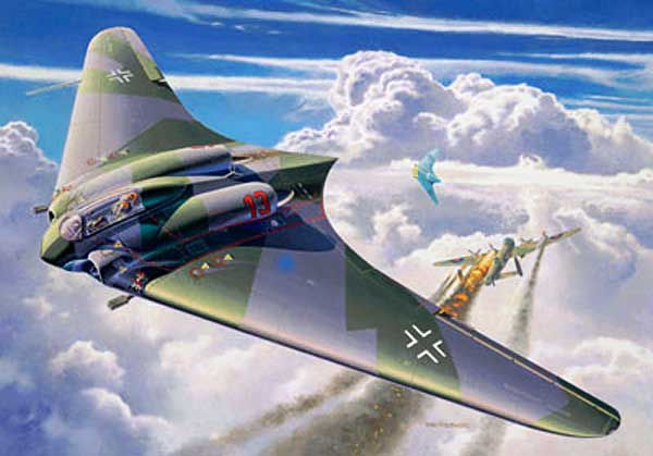 illustration for the The Horten Ho 229 Flying Wing paper model