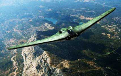 Horten Ho 229 Rendering In Flight