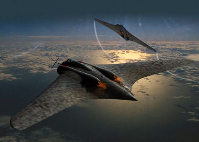 Horten Ho 229 Rendering 2 ships in flight