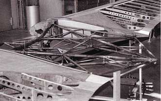 Horten Ho-IV center construction