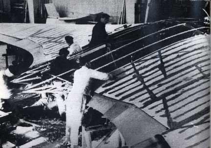Horten IX flying wing construction