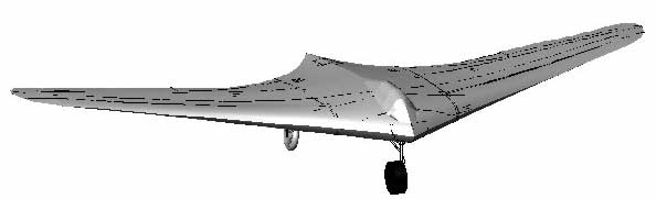 Computerized HO-IX glider
