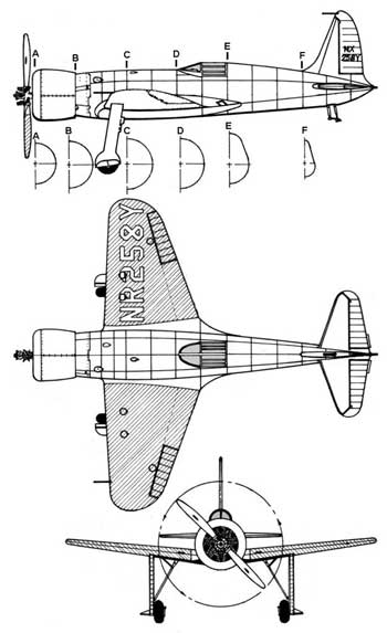3 View of the Hughes H-1 Racer