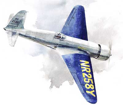 Hughes H-1 Racer Painting