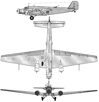3 View of a Junkers Ju-52