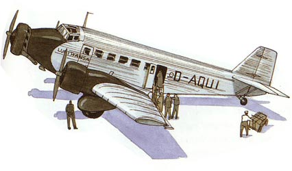 JU-52 watercolor