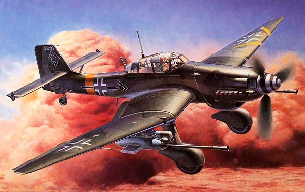 artwork for Stuka Junkers Ju-87 paper model