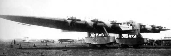 Kalinin K-7 Russian Giant Trasnport/Bomber Front View